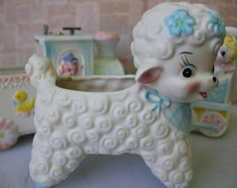 Little Lamb Planter, Vintage Ardco