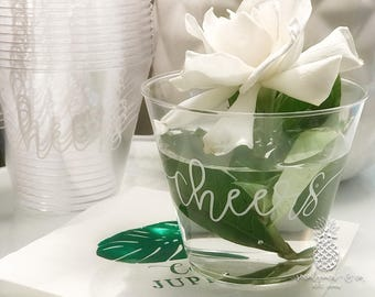 Cheers Wedding   Customizable Disposable Party Cups   Weddings, Engagement Bridal Parties or Shower   social graces and Co