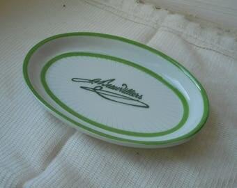 stunning vintage Limoges porcelain oval shaped trinket dish / trinket tray