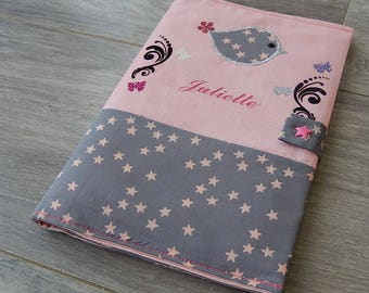 "Health book ""bird"" fully customizable cotton"