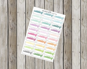 Wedding Stickers for Erin Condren Life Planner (ECLP)