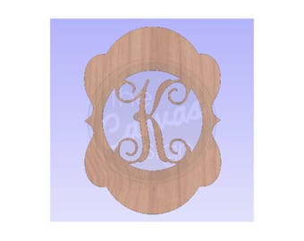 MONOGRAM plaque - Blank - Unfinished Wood Cutout - DIY - Wreath Accent, Door Hanger, Ready to Paint & Personalize