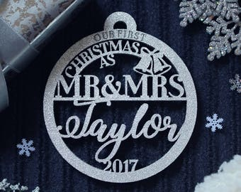 Christmas Ornaments Our First Christmas Ornament First Christmas Gift Ornament Personalized Christmas Ornaments Personalized Wedding Gift 20