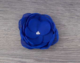 Blue Wedding - Royal Blue Wedding - Blue Hair Flower - Royal Bridesmaids - Blue Flower Girls - Blue Hair Clip - Royal Blue Brooch -Blue