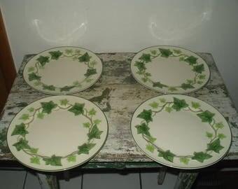 """4 Vintage Ivy Fransiscan Dinner Plates 10 3/8"""""""