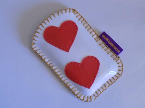 Original 'housse telephone portable ''HEART 2 HEART'' simili Cuir belicious-delicious-creation