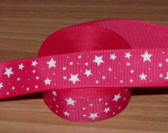 Fuchsia grosgrain Ribbon stars.