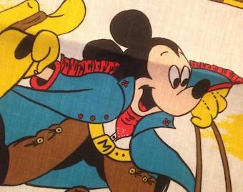Vintage Cowboy Mickey Mouse Bandana