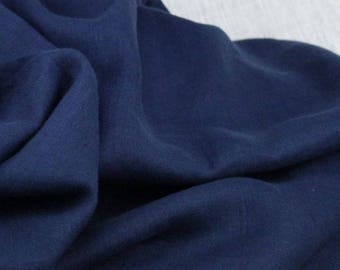 Pure irish linen navy fabric  ,material ideal for coats and suits.with label