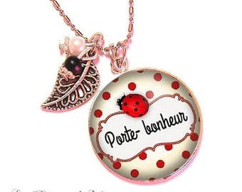 With its 25 mm cabochon beads necklace * lucky * (070617)