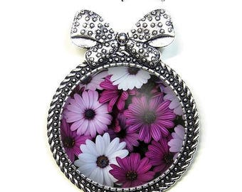 Brooch pin with its Cap 3 cm * flowers * (131216)