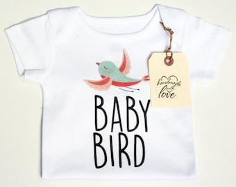 Baby Bird Shirt, Cute Baby Onesies, Mama Brid, Baby Bird Onesie, Boho Baby Clothes, Hippie Baby Clothes, Bohemian Baby, Trendy Baby Clothes
