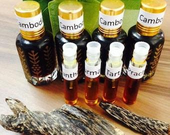 4xPure 2 ml 100% Agarwood Oud Oil Trat/Trad/Thailand/Cambodia Sample