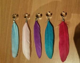 5 colour dreadlock feather bead cuffs