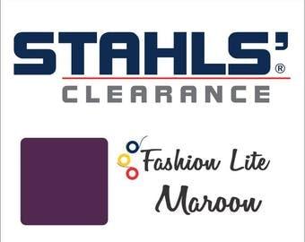 "15"" x 5 Yards - Stahls' Fashion-LITE Heat Transfer Vinyl HTV - Maroon"