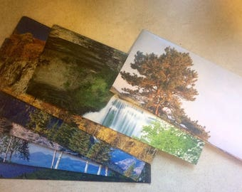 7 Nature Calendar Envelopes Bussiness Size, All Different Nature Scenes
