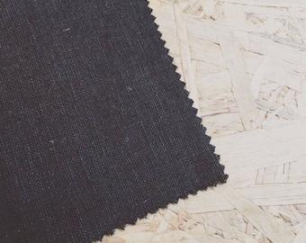 Black Linen- Black Fabric- Plain Linen- Linen Fabric- Black- Curtain Fabric- Dressmaker fabric- Fabric per metre- Plain Fabric- Monochrome