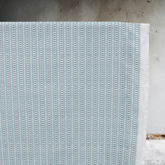 Duck egg blue fabric linen fabric curtain fabric retro for Boys curtain material
