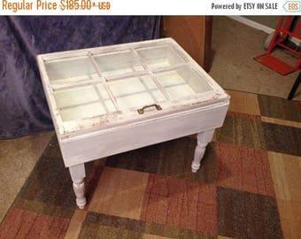 ON SALE rustic coffee table shadow box coffee table