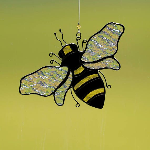 Stained Glass Bee Suncatcher Stain Bumble Ornament