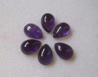 9X13mm Purple AMETHYST pear cabochon AAA Quality gemstone, Purple AMETHYST Cabochon Pear, pear cabochon amethyst, amethyst cabochon Gemstone