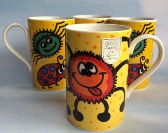 1 of 2 Dunoon Spider Bug Coffee Mug Cup Jane Brookshaw Creepy Crawlies Scotland