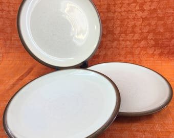 "1 Of 3 Denby Langley ENERGY CINNAMON 9"" Salad Plates Stoneware England"