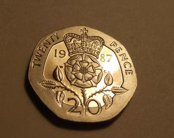 1987 Great Britain 20 Pence Proof #3973