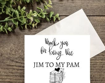 THE OFFICE | jim and pam Valentine's Day card