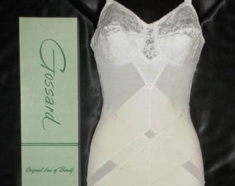 Vintage Exquisite 1950's New/Old Stock Gossard Boxed Open Bottom Girdle w/ Garters 34B
