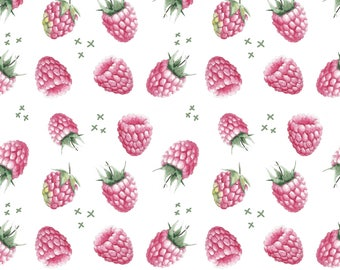 Raspberry fabric, Organic fabric, fabric by the yard, wcollection fabric, berry cotton lycra, jersey knit fabric, stretchy fabric