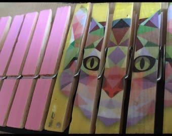 Set of 10 clothespins fantasy, standard (CAT REF.)