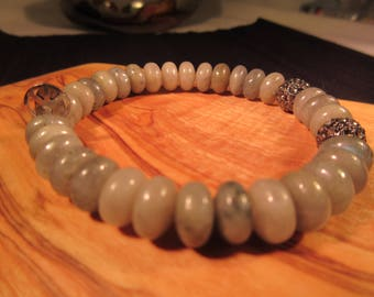 Hipchik Grey Bead Bracelet