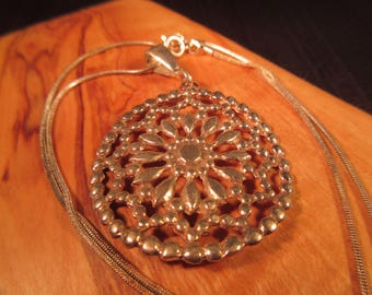 Boho Sterling Silver Necklace