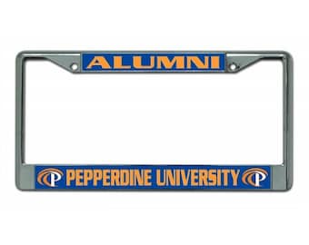 Pepperdine University Alumni Chrome License Plate Frame