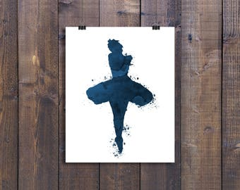 Ballerina, Wall art, Ballerina prints, Printable, Navy, Download digital, Ballet dancer, Nursery girls, Toddler girl, Ballerina pictures,
