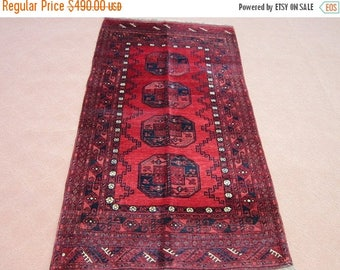 SUMMER SALE 25% OFF Size: 6 ft by 3.5 ft Handmade Rug Semi Antique Afghan Tribal Turkomen Filpai Carpet