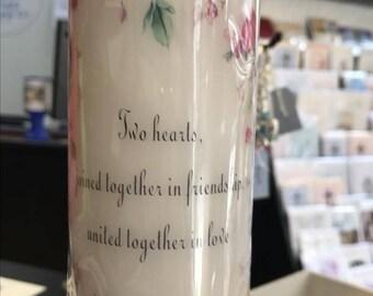 Ensemble de Roses Floral personnalisés l'unité bougie de mariage, décoration de mariage de bougie, bougie anniversaire de mariage