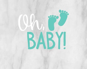 Oh, Baby Decal / baby decal / personalized decal / baby sticker / newborn decal / monogram decal /