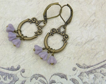 Three of a kind - Vintage style earrings with Czech glass beads