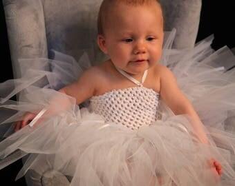 Tutu dress handmade, princess dress for baptism, wedding dress
