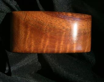 Handcrafted Hawaiian Curly Koa Wood Barrette Made In Hawaii