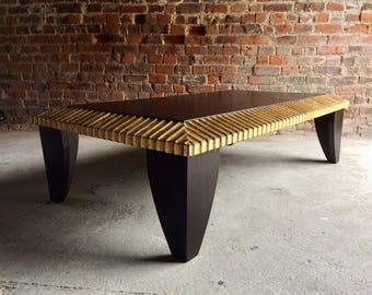 Fabulous Italian Coffee Table Occassional Table Ebonised Parcel Gilt Vintage