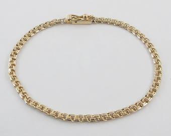 "18 k Yellow Gold Charm Bracelet 7 1/2"" 6.5 grams"
