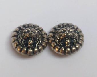 Vintage lion clip earrings horror Lannister