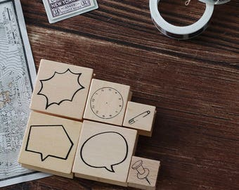 Office Supplies, Wood Rubber Stamp