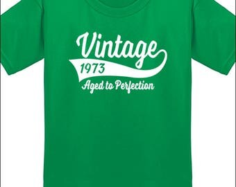 45th Birthday T Shirt Vintage 1973 T-Shirt Milestone Birthday Party Gift