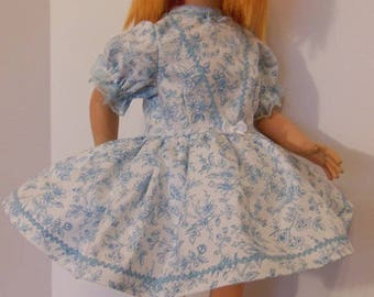 "Blue Floral Dress Set for 22"" Vogue Brikette Dolls"
