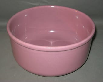 Vintage Pink Pottery Bowl / Pink Mixing Bowl /  Pink Serving Bowl / Waechtersbach Spain