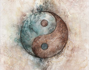 Yin Yang - symbol - 20x20cm fine art print - art print, Giclée